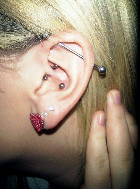 Piercing, Scaffold, Daith, Conch, Lobe, Ear