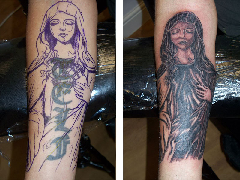 Cover Up, Before, After, Writing, Mary, Religious