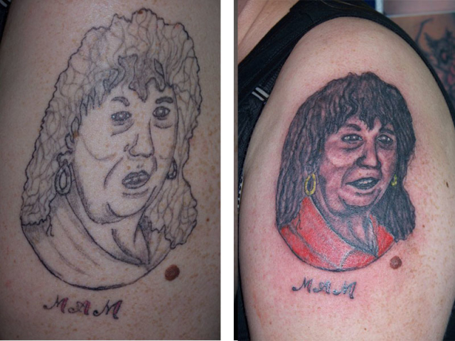 Cover Up, Before, After, Portrait