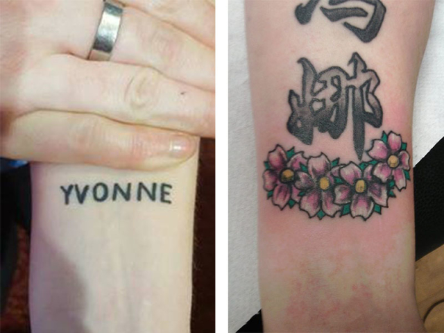 Cover Up, Before, After, Writing, Flowers