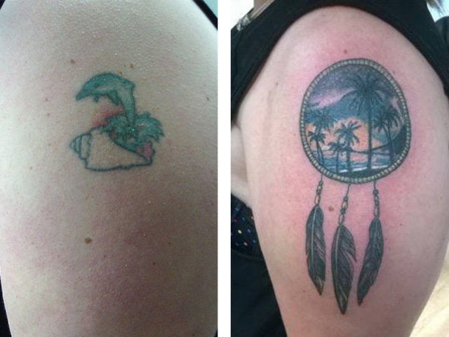 Cover Up, Before, After, Dolphin, Dream Catcher