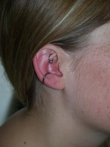 Piercing, Conch, Rook, Ear