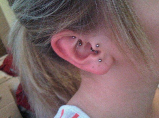Piercing, Tragus, Anti Tragus, Rook, Ear