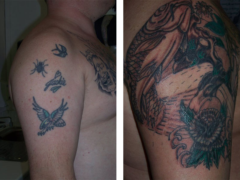 Cover Up, Before, After, Koi, Fish