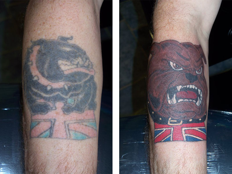 Cover Up, Before, After, Bulldog, British