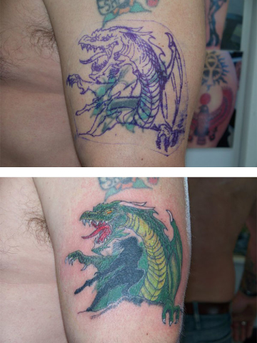 Cover Up, Before, After, Dragon, Slayer