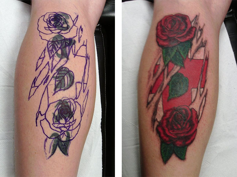 Cover Up, Before, After, Writing, Rose, England