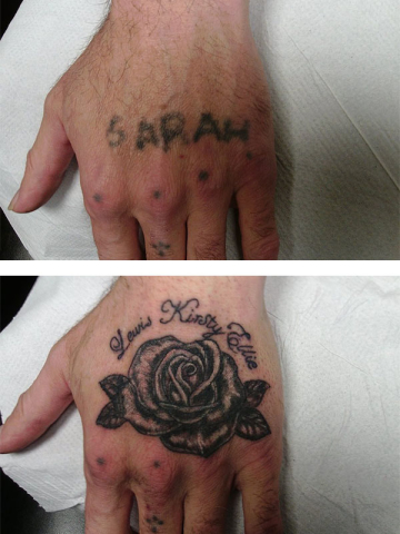 Cover Up, Before, After, Writing, Rose